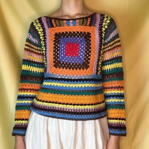 HANDMADE Vintage Crochet Sweater